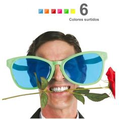 gafas gigantes 28 cms 6 colores modelos (elige 1)