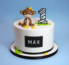 Wonderful Image of Monkey Birthday Cakes . Monkey Birthday Cakes, Cookie Cake Birthday, Monkey Cakes, Baby Boy Cakes, Cakes For Boys, Dance Cakes, Birthday Cake Pictures, Love Cake, Cute Cakes