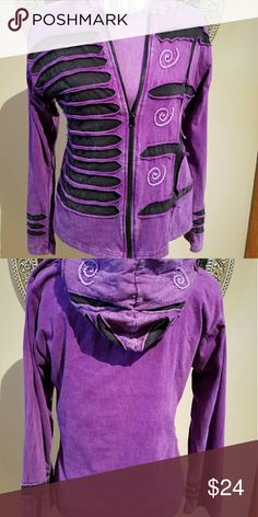 Spotted while shopping on Poshmark: Shopping Therapy Purple Black Hoody! #poshmark #fashion #shopping #style #Shop Therapy  #Jackets & Blazers