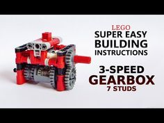 Super Easy Building Instructions - 3 Speed Gearbox - 7 studs - Lego Technic Mastery - YouTube