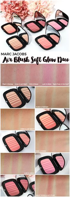 Marc Jacobs Air Blush Soft Glow Duo Review All Shades 1377133ea