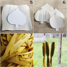 These Calla Lily flowers are fashioned from dried corn husks. Incorporate them to any floral arrangement project for a rustic flair. They...
