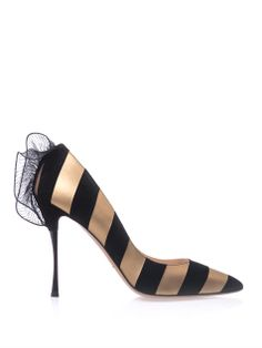 Leather and suede stripe point-toe pumps | Nicholas Kirkwood