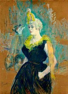 Buongiorno e felice giovedì con un ritratto di Henri de #TolouseLautrec: La Clownesse Cha-U-Kao, 1895. Ciao :)