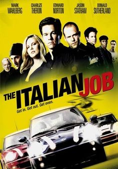 The Italian Job (2003) Mark Wahlberg stars as Charlie Croker, a clever thief who masterminds a major heist amid the waterways of Venice, Italy -- but a betrayal by one of his own spells disaster, and Croker returns to Los Angeles without the stash, plotting revenge. With an eye on recovering his riches, Croker rounds up his crew -- adding an ace safecracker (Charlize Theron) to the mix. Donald Sutherland, Seth Green and Mos Def also star in this elaborate crime caper.