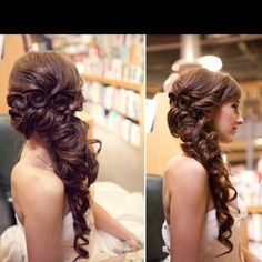 Curled side pony - want this for grad!!