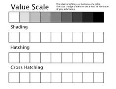 value scale template more scales templates shades exercise art