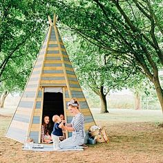 Create the perfect outdoor escape for your younger ones with the Great Wooden Teepee Hideaway from Plum.