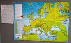 Printed Muuvit map with a route