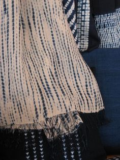 Indigo dyed cotton. Aboubakar Fofana, Mali.