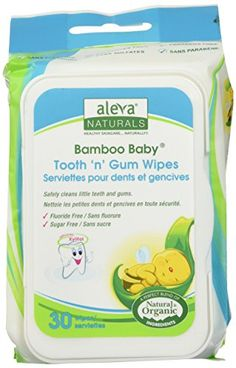 http://allforyourbaby.info/aleva-naturals-bamboo-baby-tooth-n-gum-wipes-180-count-pack-of-2/ - Aleva Naturals bamboo baby tooth 'n' gum wipes safely clean little teeth and gums. They are formulated with pure plant-based...