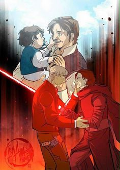 """Torn Apart""- Han and Ben Solo. Ow! This hurts!!!!"