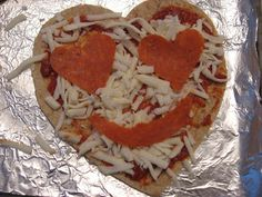 Heart Shaped Pizza ! Fun Toddler/ Kid made lunch for kids on Valentine's Day.