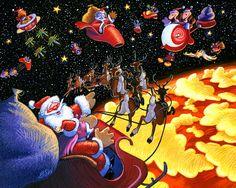 Christmas over Venus Giclee Print by StubbornPixelStudios on Etsy