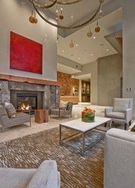fireplace idea..1521 building lobby