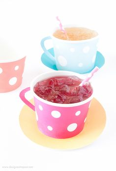 Download these free Tea Party Printables, attach to a paper icecream cup, and you have an instant tea cup!