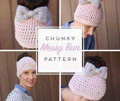 Messy Bun Free Crochet Pattern