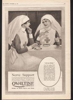 FA 1918 OVALTINE Tonic Food Beverage Nurse Red Cross War Military WWI C Halsey | eBay