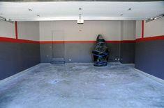 50 Garage Paint Ideas For Men - Masculine Wall Colors And Themes Garage Color Ideas, Garage Paint Colors, Painted Garage Walls, Wall Colors, Garage Paint Ideas, Home Gym Garage, Gym Room At Home, Garage Art, Garage Tools