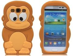 Minidandan Brown Cute 3d Monkey Gorilla Silicone Soft Case Cover Skin for Samsung Galaxy S3 I9300 by minidandan, http://www.amazon.com/dp/B00C872IEO/ref=cm_sw_r_pi_dp_a1Josb1QBN4A9
