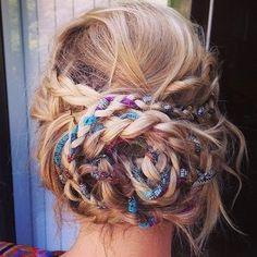 Omg! Boho Braided Bun Hairstyle