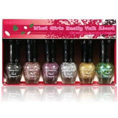Kleancolor Glitter Nail Lacquer Mini Collection What Girls Really Talk 594   Free Earring Gift *** Learn more by visiting the image link. (This is an affiliate link) #NailPolish