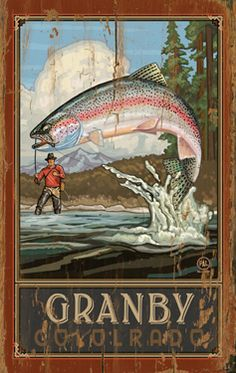 Fisherman Catching Fish Vintage Wood Sign Art Rustic Outdoors Fishing Hunting Antique Ads Advertisements Pictures Wall Artwork Home Decor Nostalgic Vintage Ads, Vintage Posters, Vintage Wood Signs, Fish Activities, Mountain Living, Mountain High, Rainbow Trout, Gone Fishing, Fish Print