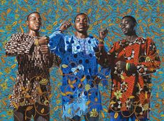 kehinde wiley, Three Wise Men Greeting Entry Into Lagos, 2008 Oil on canvas x 96 African American Artist, American Artists, Visual Thinking Strategies, Art Analysis, Kehinde Wiley, Three Wise Men, Black Artists, Male Artists, Figurative Art