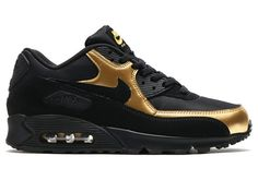 Metallic Gold Shines On The Nike Air Max 90 Essential