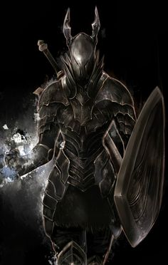He usually has a suit of black armor that enhances his abilities and no regular sword can break. Description from chickensmoothie.com. I searched for this on bing.com/images