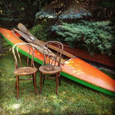 Thonet chairs and boat