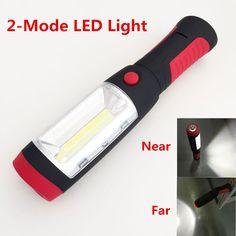 LED Flashlight 2 Modes Portable Lantern Emergency COB LED Camping Lantern Waterproof Flash Light Torch Hanging Lamp With Magnets