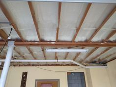 This garage is going to be so comfortable in the winter and summer with all this spray foam!