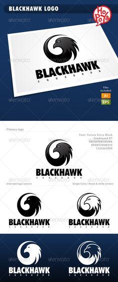 Blackhawk  Logo Design Template Vector #logotype Download it here: http://graphicriver.net/item/blackhawk-logo/3646925?s_rank=103?ref=nexion