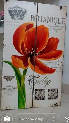 Decoupage, Cactus, Diy Wall Art, Chalk Paint, Poppies, Stencils, Diy And Crafts, Floral Design, Projects To Try