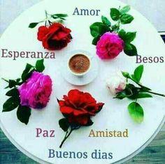 Good Day, Good Morning, Spanish Quotes, Happy Day, Margarita, Inspirational Quotes, Flowers, Sora, Bambi