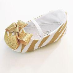 Handmade Baby Shoes. Little Posh Bebe. Handmade Toddler Shoes. Glitter Gold Animal Print