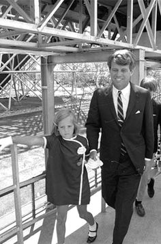 Little Miss Kerry holds Daddy's hand as she leads the way… ❁❤❁❤❁❤❁ http://en.wikipedia.org/wiki/Robert_F._Kennedy      http://en.wikipedia.org/wiki/Kerry_Kennedy