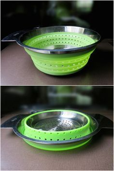 3 Space-Saving Collapsible Kitchen Products Ideal For RV Living. I live full-time in an RV and I like to cook. In fact, I cook a lot. More often than not, I make three meals a day in my RV. These aren't the kind of Diy Camping, Camping Gear, Camping Life, Camping Kitchen, Camping Hacks, Camping Cooking, Camping Supplies, Camping Essentials, Outdoor Camping