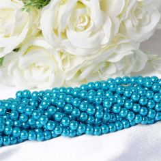 Endless Pearl Strand 8 Yards Mother of Pearl - Turquoise Pearl Centerpiece, Candle Centerpieces, Centerpiece Decorations, Wedding Decorations, Easy Crafts, Diy And Crafts, Pearl Garland, Clear Glass Vases, Decorating Supplies
