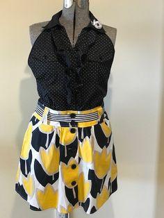 Tulip skirt apron.  Repurposed garments into apron. Waist Skirt, High Waisted Skirt, Tulip Skirt, Repurposed, Apron, Short Dresses, Skirts, How To Wear, Design