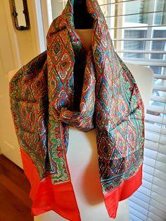Scarf,Scarves,Silk,Pink,Purple,Green,Yellow,Long...40/% Silk Summer Scarf 029
