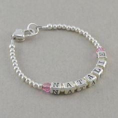 Baby Bracelets, sterling silver,  heart, newborn bracelets, baby shower gift, girl, birthstone, birthday, little girls, personalize, NATALIE on Etsy, $40.00