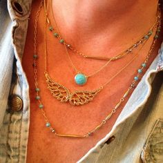 Delicate layering necklaces by Stella & Dot