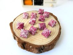 50pcs 12MM Plum Purple with White Color Splash Pyramid by eSupply, $1.99