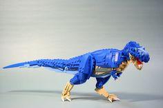 Tyrannosaurus-rex by aurore&aube Lego Dinosaurus, Legos, Blue Jurassic World, Minecraft Statues, Lego Dragon, Lego Sculptures, Lego Animals, Lego Man, Lego For Kids