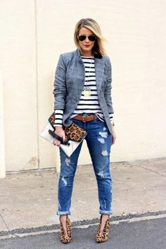 Useful Tips to Remember When Shopping for Jeans Three Prints Winter Outfit by What Courtney Wore Fashion Mode, Look Fashion, Winter Fashion, Womens Fashion, 80s Fashion, Fashion Trends, Paris Fashion, Runway Fashion, Fashion News