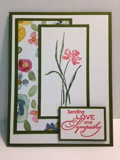 Love & Sympathy, Sympathy Card, Stampin' Up!, Rubber Stamping, Handmade Cards