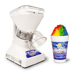 Premium Shaved Ice Machine and Snow Cone Machine with Syrup Samples. Makes perfect fluffy snow in 3 seconds