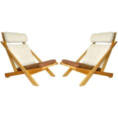 Very rare CH03 chairs by Hans Wegner | From a unique collection of antique and modern lounge chairs at http://www.1stdibs.com/furniture/seating/lounge-chairs/